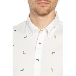 NWOT Bonobos Riviera Slim Fit Pepper Print Shirt